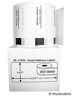 6 Rolls Of Dk-1209 Brother-compatible Small Address Labels Bpa Free