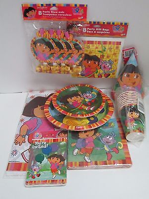 Dora The Explorer Cups (DORA THE EXPLORER BIRTHDAY PARTY SET 9 PACKAGES - PARTY SUPPLIES PLATES CUPS ETC )