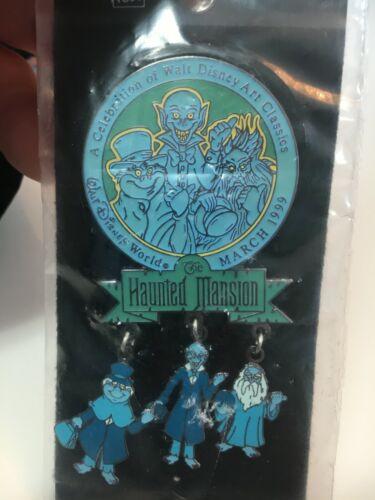 Disney Pin 1098 WDAC 1999 - Haunted Mansion Dangle - 3 HITCHHIKING GHOSTS SEALED