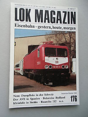 LOK Magazin Eisenbahn gestern heute morgen Nr. 176 Sept./ Okt. 1992