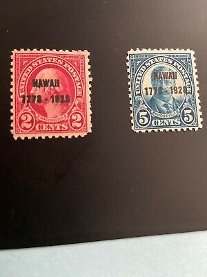US Stamp Scott# 647-648 Set .. Overprint Washington..,Roosevelt 1928  MNH