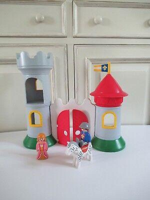 ♥ Jouet Château Playmobil 123 Avec Couple Princier Complet Réf: 6771