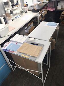 2 office works desks