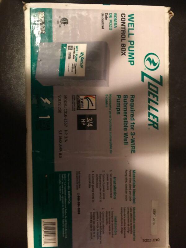 ZOELLER Well Pump Control Box 1010-2337 3/4HP 230 Volts  S.F. Max Amp 8.0