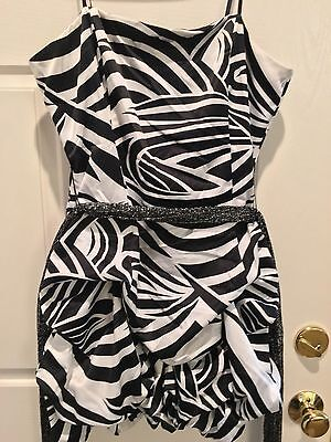City Studio Black White Bubble Club Sexy Stretch Formal Party Zebra Dress 13 14