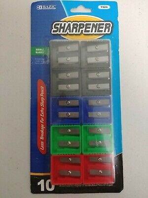 BAZIC Double Blade Pencil Sharpener 10-pack FREE SAME DAY (Pencil Sharpener Blades)