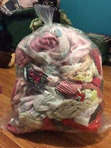 Large bag of girls clothes 3-6 months