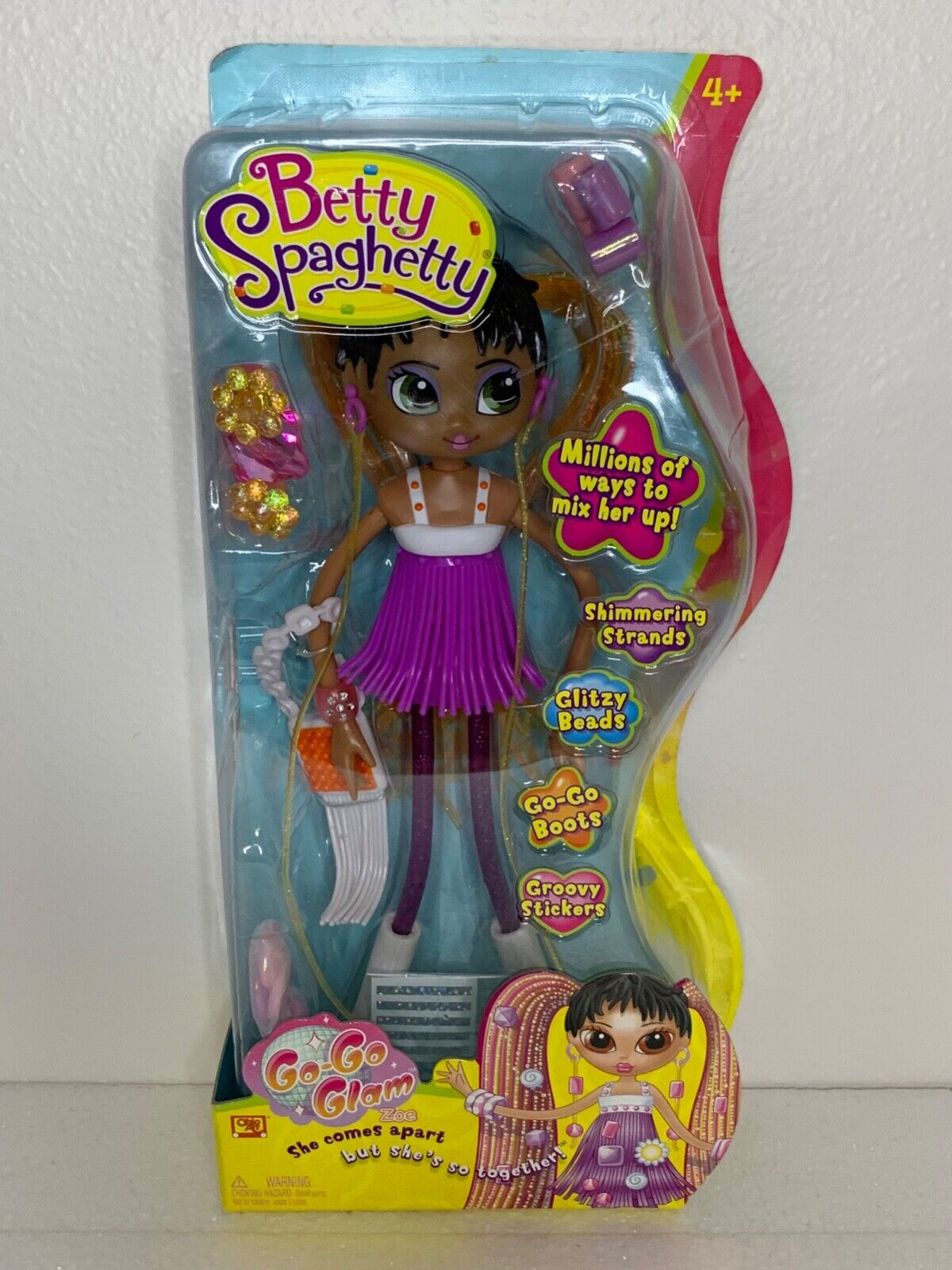 Betty Spaghetty Go Go Glam African American Doll Ohio Art NEW IN PACKAGE RARE  - $49.99