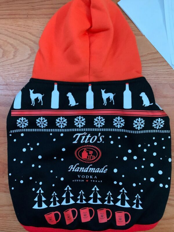 Titos Handmade Vodka Dog Sweater Hoody Hoodie Size Medium