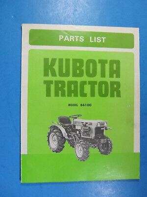 Kubota B6100 Parts List Catalog Manual Original Ome