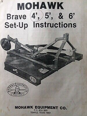 Mohawk Brave 4 5 6 3-point Hitch Tractor Brush Field Mower Owner Parts Manual