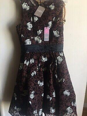 ANTHROPOLOGIE Tracy Reese Frock Chrysanthemum Dress Velvet Trim NWT $39.99