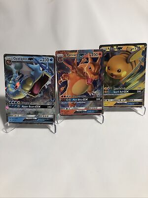 Pokemon Hidden Fates Promos Charizard Gyarados Raichu GX Cards Lot SM211 212 213