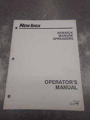 New Idea Side Kick Manure Spreaders Operators Manual 987060