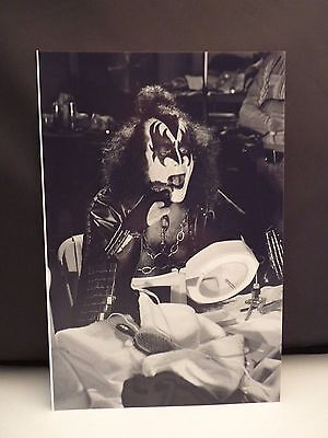 Kiss 1977 L.A. Forum Gene Simmons Backstage 8x12 Photo #1 From Original Negative