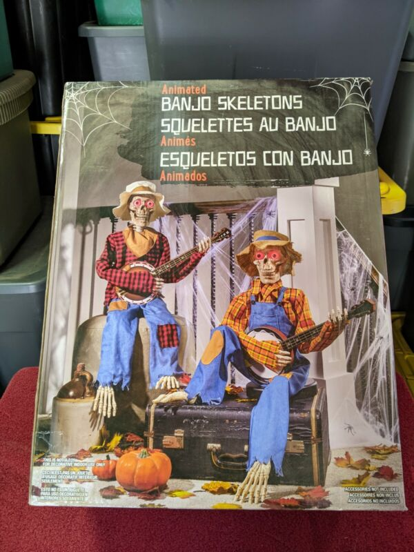 Animated Halloween Dueling Banjo Skeletons