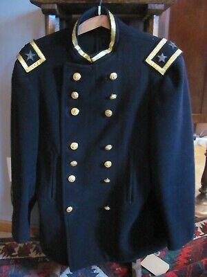 US Naval Officers Wool Dress Coat 2 Stars Spanish American WWI
