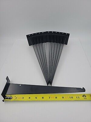 12 Pack Slatwall Shelf Bracket - Black - 12 Inches