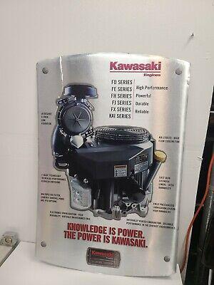 Vintage Kawasaki Engine Sales Dealer Sign Engine Gas Oil Cardboard