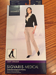 SIGVARIS Medical Graduated Compression Hosiery -Size LL
