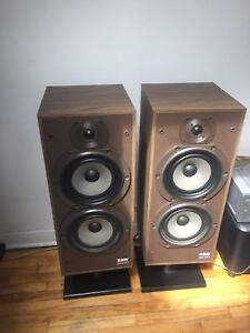 B & W  DM220  3-way front speakers
