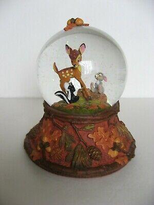 """Hallmark Disney Bambi & Thumper Snow Globe """"Forest Friends Forever"""""""