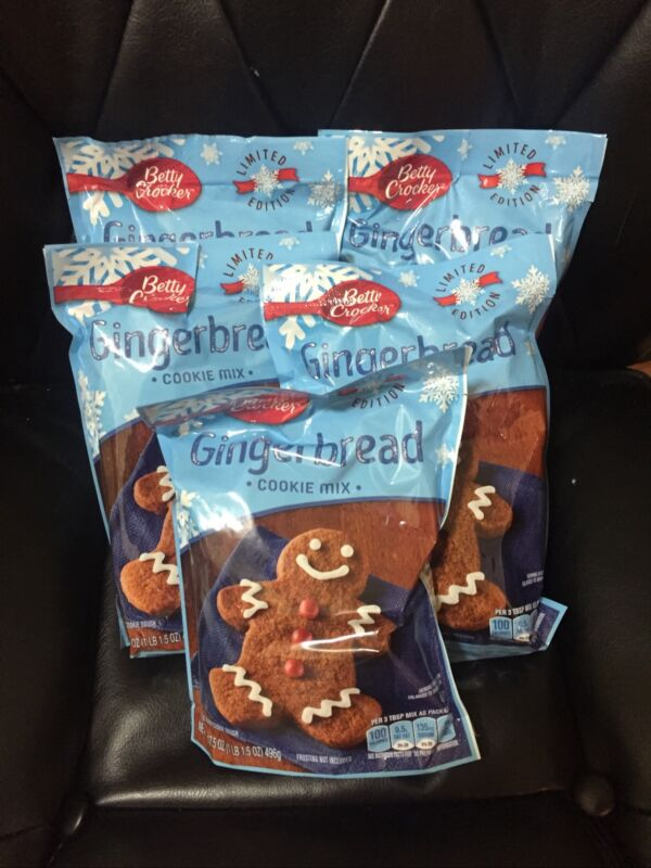 Betty Crocker Gingerbread Cookie Mix Limited Edition  17.5 Oz (pack of 5)