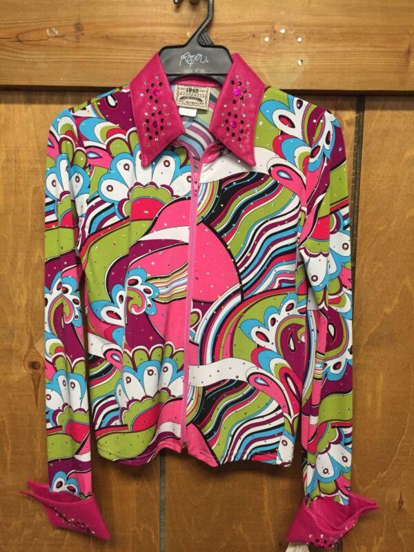 Show Jacket Hot Pink Size Xlarge , 1849 Ranchwear
