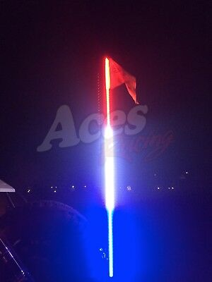 5ft Red White and Blue LED Whip with Quick Connect and 1 Year Warranty off-road
