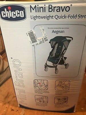 Chicco Mini Bravo lightweight stroller - Aegean Green