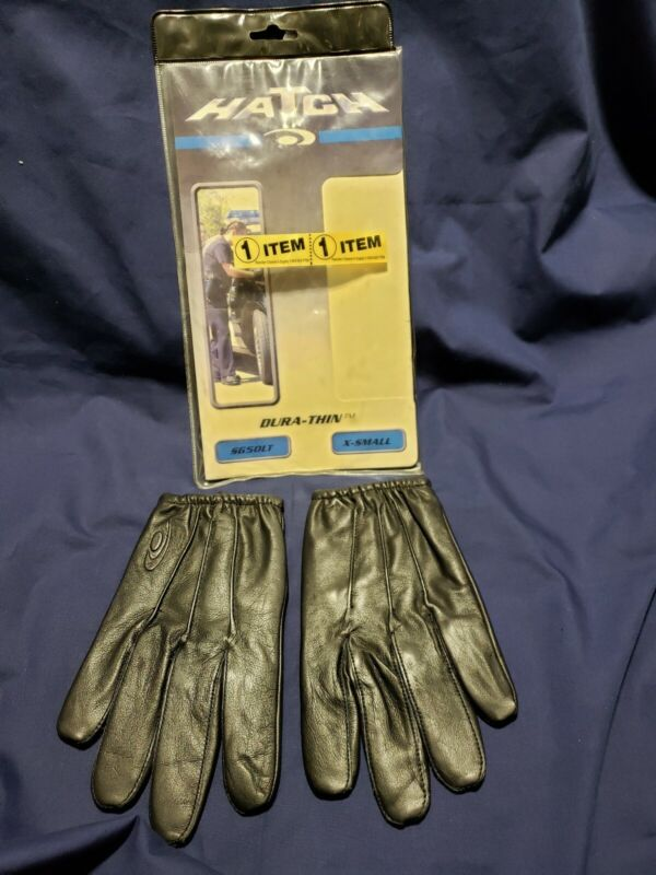 """Hatch Police Search Gloves Dura-Thin SG50LT X-SMALL Black NEW """"OLD STOCK"""""""