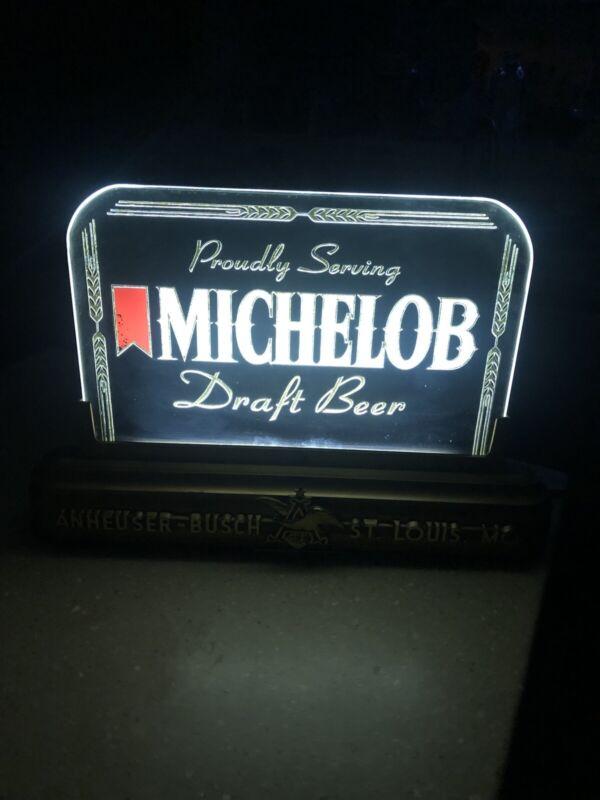 Vintage Michelob Draft Beer Lighted Bar Pub Advertising Beer Sign Anheuser Busch