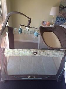 Graco pack n play/portacot with bassinet insert, change station Bellbowrie Brisbane North West Preview