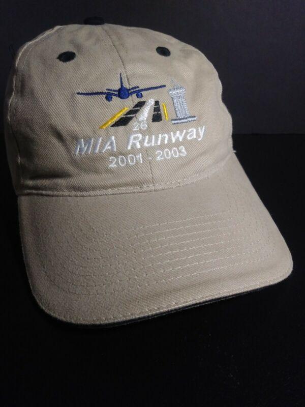 MIAMI INTERNATIONAL AIRPORT 4TH RUNWAY DEDICATION. Vintage TAN BASEBALL HAT CAP