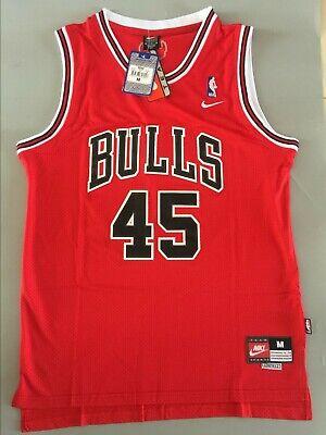 New Michael Jordan #45 Chicago Bulls Throwback Swingman Jersey Red Size S M L XL