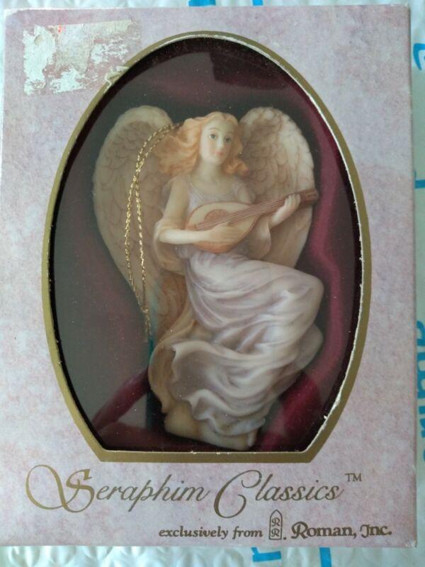 1994 Seraphim Classics by Roman Lydia Winged Poet  Angel Ornament w/ Box