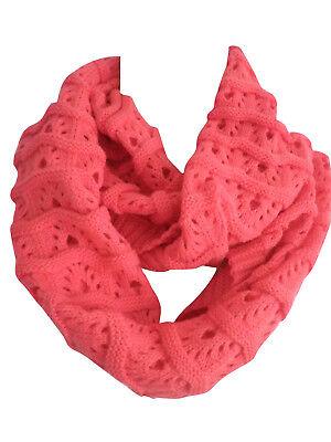 winter warm women solid kint crochet cowl infinity circle scarf loop shawl wrap