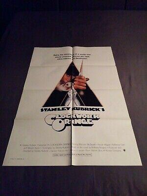 "A Clockwork Orange (Warner Brothers, 1971) one sheet (27"" x 41"") folded"