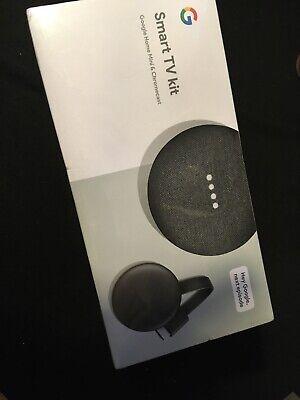 Google Smart TV Kit Google Home Mini + Chromecast 3rd Gen Streamer NEW in box