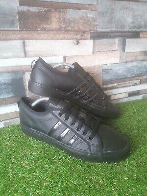 Men's Adidas Nizza Trainers Black Size 11 UK 46 Eur