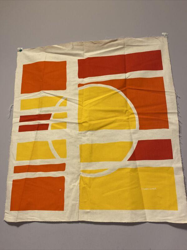Vintage MCM MARUSHKA Print ~ Unframed ~ Multi Color Abstract Sun
