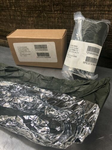 -LOT of 4- 52x84 Military Surplus Space Olive Drab Casualty Survival Blanket