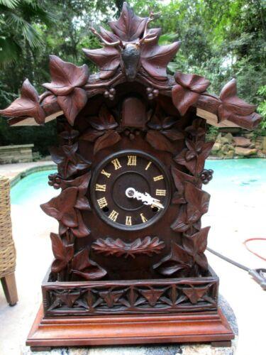 Antique Rare A. Frankfield Mantle Cuckoo Clock 1866