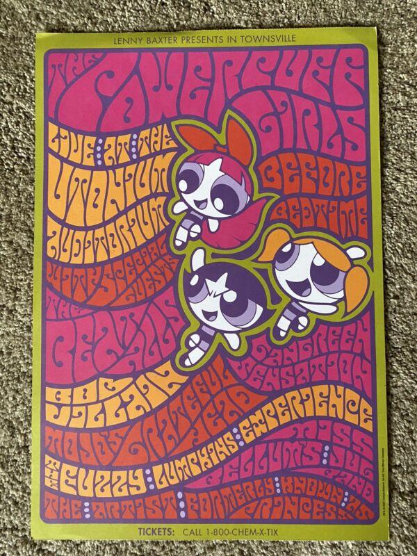 Power  Puff Girls Poster From Rare Cartoon Network Calendar