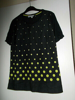 Designer Jonathan Saunders Ladies Black Spotted Top Size 12 Ex Condition