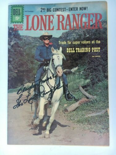 1961 Dell LONE RANGER Comic #141 SIGNED Clayton Moore Photo Cover (VG+/F-)