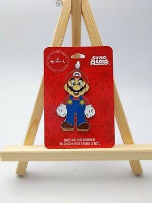 New Hallmark 2020 Super Mario Metal Christmas Ornament Bag Tag Nintendo