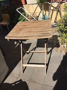 Fold up wooden table. Marangaroo Wanneroo Area Preview