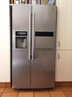 Double Door Stainless Steel LG  Fridge-Freezer! Kenmore Hills Brisbane North West Preview
