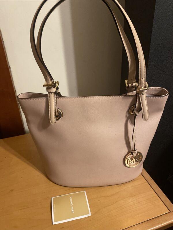 Michael Kors  Pink Pebbled PVC Shoppers Tote Bag